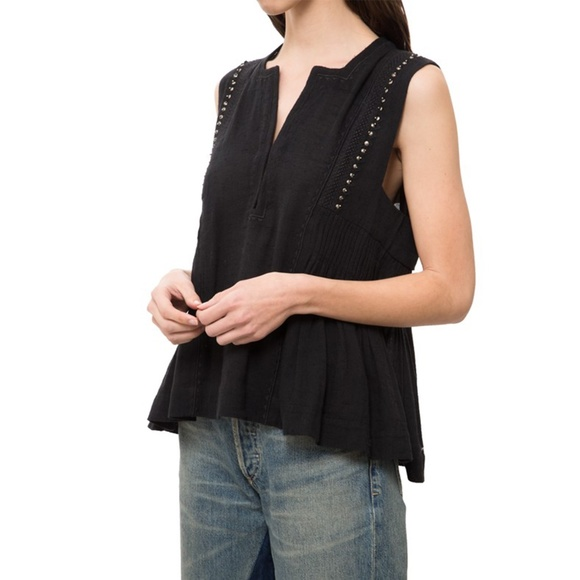 29dd5cd8b3bcab Isabel Marant Tops - Isabel Marant Adonis Black Top Blouse 34   XS
